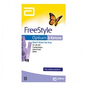 Abbot Freestyle Optium Blood B-Ketone Test Strip 10 Strips