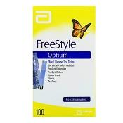 Abbott Freestyle Optinum Blood Glucose Test Strip 100 Strips