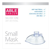 Able Spacer Mask Small Anti-Bacterial with Coaching Whistle