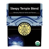 Buddha Teas Organic Herbal Tea Bags Sleepy Temple Blend 18 Pack