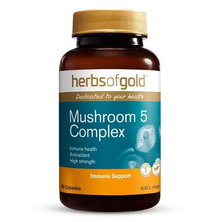 Herbs of Gold Mushroom 5 Complex 60 Capsules
