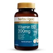 Herbs of Gold Vitamin B2 200mg 60 Tablets