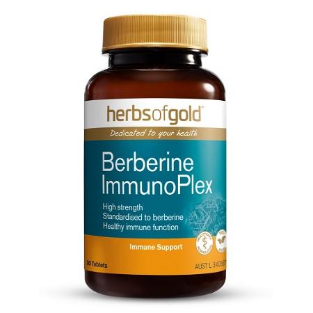 Herbs of Gold Berberine ImmunoPlex 30 Tablets