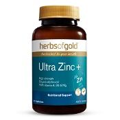 Herbs of Gold Ultra Zinc+ 60 Capsules