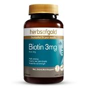 Herbs of Gold Biotin 3mg 60 Tablets
