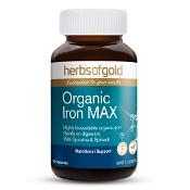 Herbs of Gold Organic Iron MAX 30 Capsules