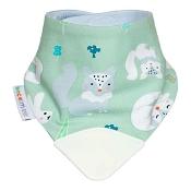 BeCalm Baby Dribble and Chew Teething Bib White Fox