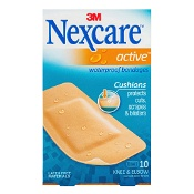 Nexcare by 3M Active Waterproof Bandages Large 10 Pack
