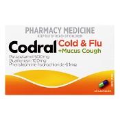 Codral PE Cold & Flu + Mucus Cough 24 Capsules