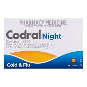 Codral PE Night Cold & Flu 24 Tablets