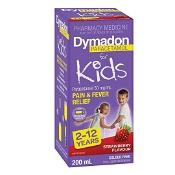 Dymadon 2-12 Years Strawberry Colour Free 200ml
