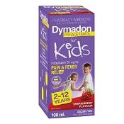 Dymadon 2-12 Years Strawberry Colour Free 100ml