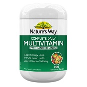 Natures Way Complete Daily Multivitamin with Antioxidants 200 Tablets (New)