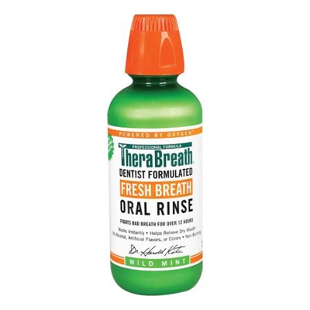 TheraBreath Oral Rinse Mild Mint 473ml
