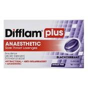 Difflam Plus Anaesthetic Sore Throat Lozenges Blackcurrent Sugar Free 16 Pack