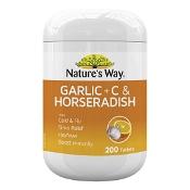 Natures Way Garlic + C & Horseradish 200 Tablets