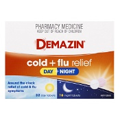 Demazin Cold & Flu Relief Day & Night 48 Tablets