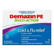 Demazin PE Multi-Action Cold & Flu Relief 48 Tablets