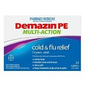 Demazin PE Multi-Action Cold & Flu Relief 24 Tablets