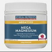 Ethical Nutrients MEGAZORB Mega Magnesium Powder Raspberry 200g