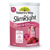 Natures Way Slimright Slimming Meal Replacement Shake Strawberry 500g