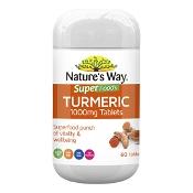 Natures Way Superfood Organic Tumeric 1000mg 60 Tablets