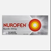 Nurofen Ibuprofen 200mg Pain Relief 24 Caplets