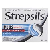 Strepsils Plus Anaesthetic Dual Action 16 Lozenges