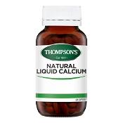 Thompsons Natural Liquid Calcium 60 Capsules