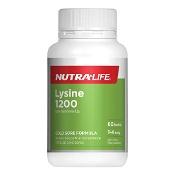 Nutra-Life Lysine 1200mg 60 Tablets