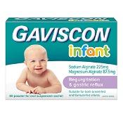 Gaviscon Infant Powder Sachets for Regurtation and Gastric Reflux 30 Packs