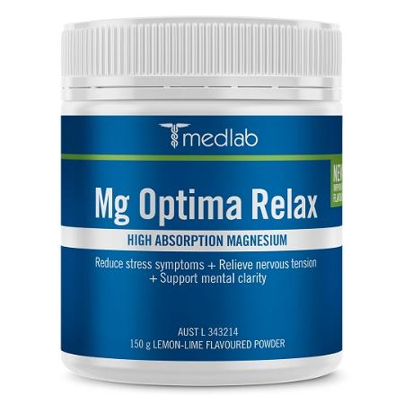 Medlab Mg Optima Relax Lemon Lime Powder 150g