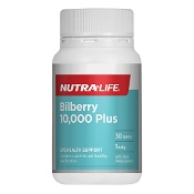 Nutra-Life Bilberry 10,000 Plus 30 Tablets