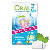 Oral Seven Moisturising Dry Mouth Gum 12 Pieces