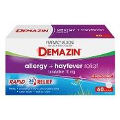 Demazin Allergy + Hayfever 60 Tablets
