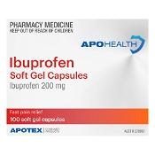 APOHEALTH Ibuprofen 200mg 100 Soft Gel Capsules