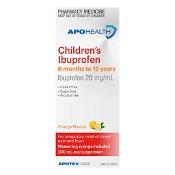 APOHEALTH Childrens Ibuprofen 6 Months -12 Years 200ml