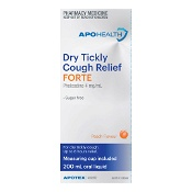 APOHEALTH Dry Tickly Cough Relief Forte Peach Flavour 200ml