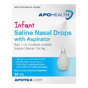 APOHEALTH Saline Nasal Drops with Aspirator 30ml