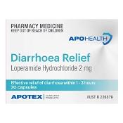 APOHEALTH Diarrhoea Relief 20 Capsules
