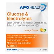 APOHEALTH Glucose & Electrolytes Orange Flavour 10 Sachets