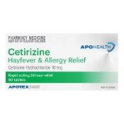 APOHEALTH Cetirizine Hayfever & Allergy Relief 50 Tablets