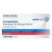 APOHEALTH Loratadine Hayfever & Allergy Relief 50 Tablets