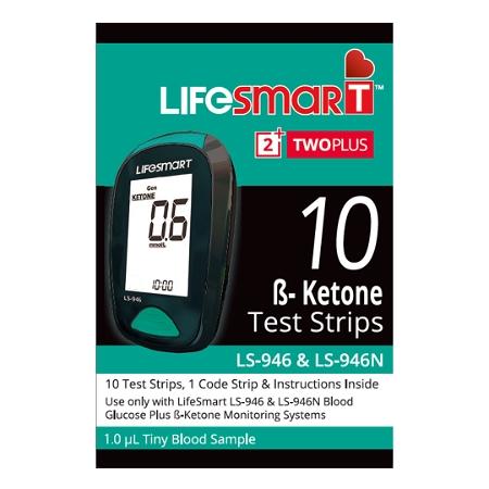 LifeSmart TwoPlus Ketone Test Strips 10 Strips