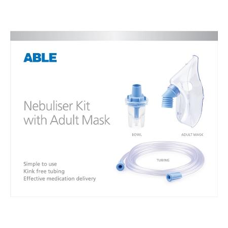 ABLE Nebuliser Kit (with Mask, Bowl & Tubing) Adult