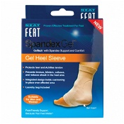 Neat Feat Spandex Gel Heel Sleeve Protects Achillies Tendon Large 1 Pair