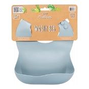 Little Mashies Silicone Washy Bib Dusty Blue