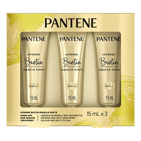Pantene Intense Hair Treatment Shots Biotin Repair for Dry Hair 3 x 15ml