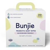 Bunjie Probiotic Baby Wipes 3 x 80 Wipes