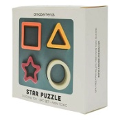 Annabel Trends Baby Silicone Puzzle Star 12cm x 4.5cm